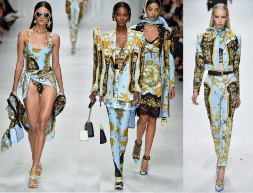 Lenços e estampas na alta moda 2018